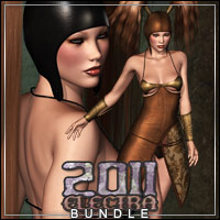 ELECTRA2011 Outfit & Hair BUNDLE by Bice