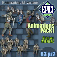 MWanimationPACK1 3D Figure Essentials 3D Models EPICI
