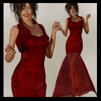 V4 S4 VElite Laz Gown 3D Figure Essentials VerveDesign