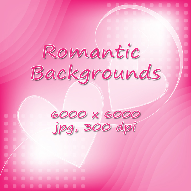 Romantic Backgrounds - 6000 pixel