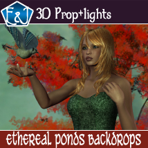 Ethereal Ponds Backdrops 2D Graphics 3D Software : Poser : Daz Studio : iClone EmmaAndJordi