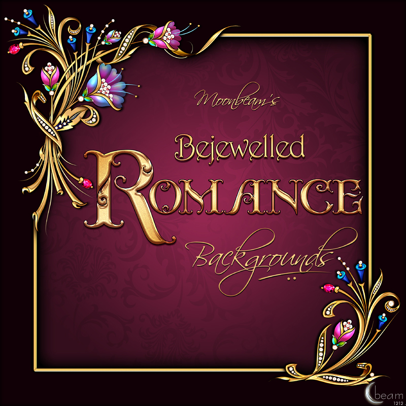 Moonbeams Bejewelled Romance Backgrounds