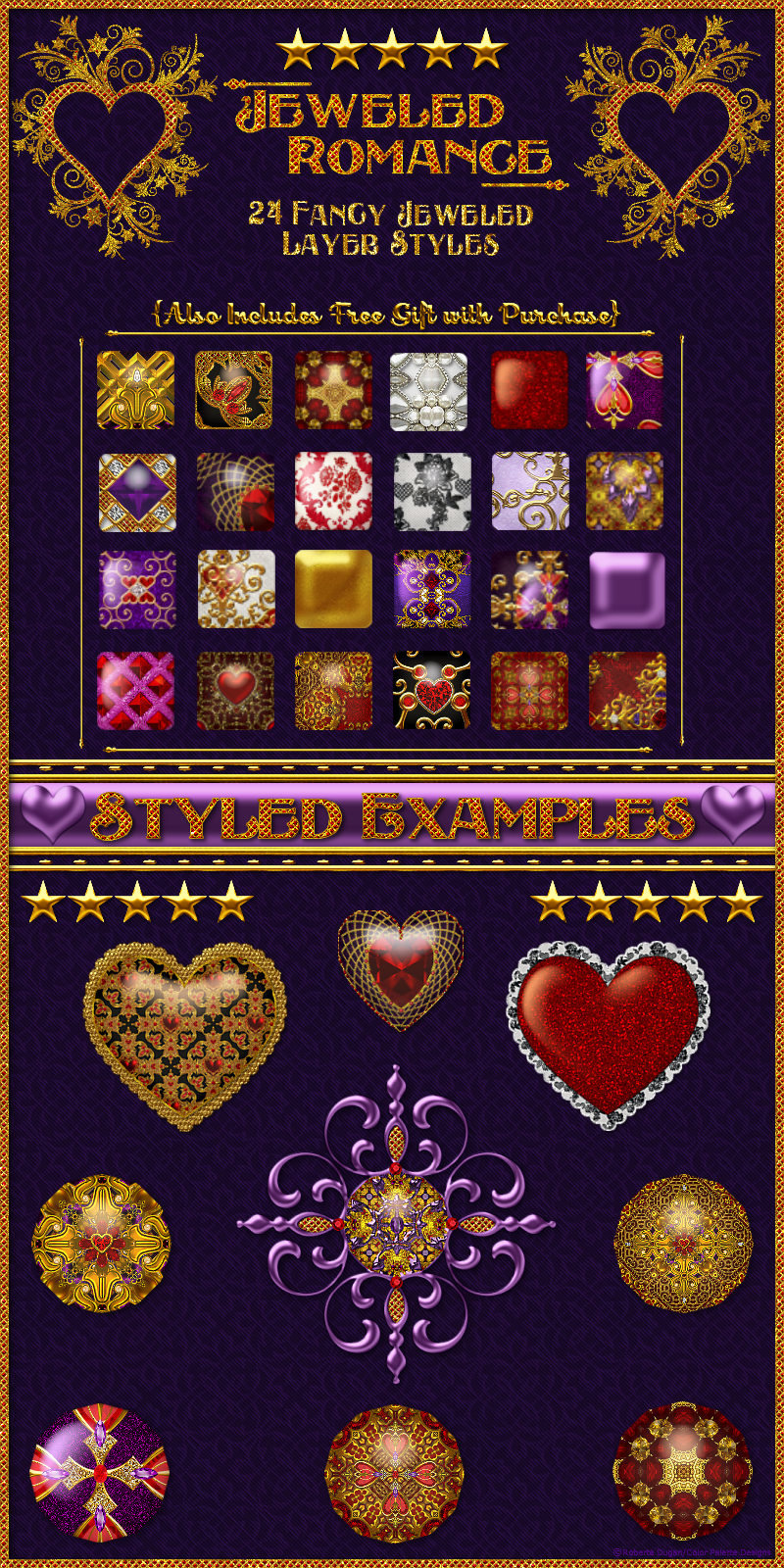 Jeweled Romance-Layer Styles with Free Gift