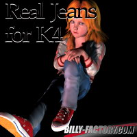 K4 Real Jeans 3D Figure Assets billy-t