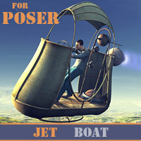Jet Boat for Poser 3D Models 1971s