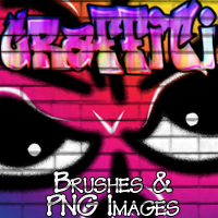 Graffiti png and brushes 2D 3D Models mystikel