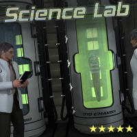 SciFi Science Lab by 3-D-C 3D Figure Assets 3D Models 3-d-c