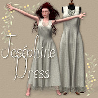 Joséphine Dress for V4 Themed Software Clothing Tipol