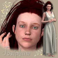 Josephine character and dress for V4 Themed Characters Software Clothing Tipol