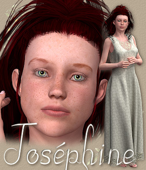 Josephine character and dress for V4 3D Figure Assets Tipol