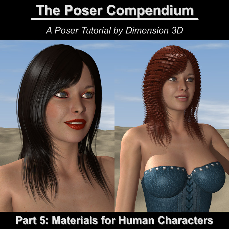 Materials for Human Characters - The Poser Compendium Part 5
