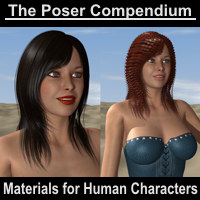 Materials for Human Characters - The Poser Compendium Part 5 Tutorials : Learn 3D Dimension3D