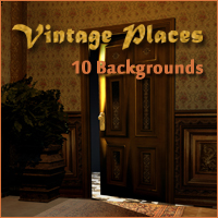 Vintage Places Backgrounds 2D And/Or Merchant Resources Themed -Melkor-