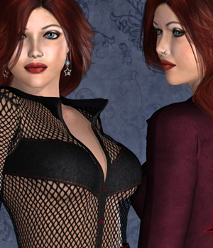 Envy Bundle for Noir Outfit Complete 3D Figure Assets kaleya