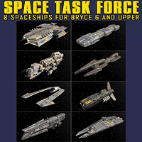 Space Task Force 3D Models 2D duo