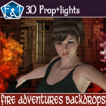 Fire Adventures Backdrops 2D Graphics EmmaAndJordi