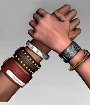 BraceletZZ Leather 3D Models 3D Figure Assets Karth