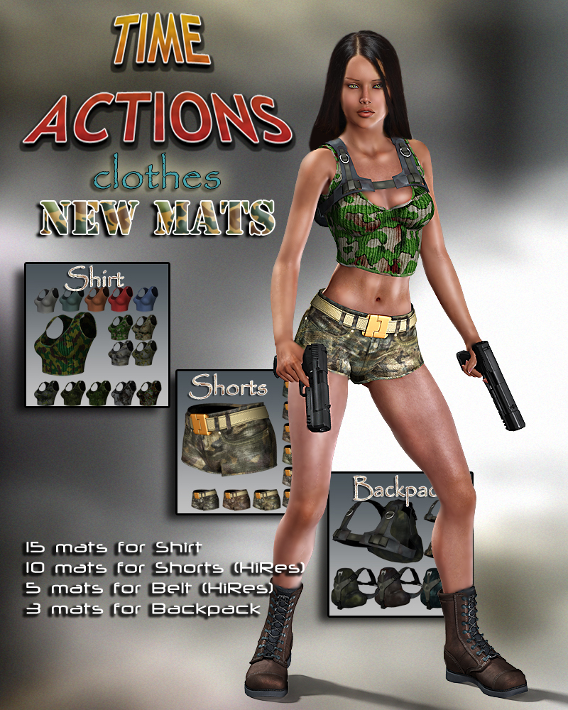 Slide3D Mats for Time Action Clothes