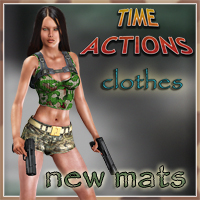 Slide3D Mats for Time Action Clothes 3D Figure Essentials 3D Models Slide3D