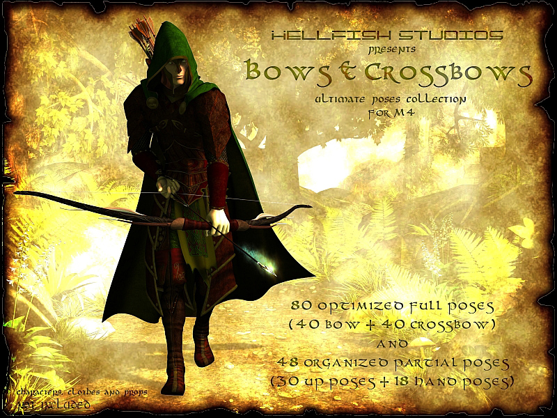 Bows and Crossbows Ultimate Pose Collection for M4