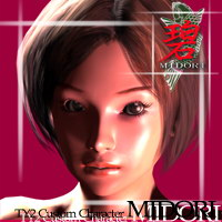 TY2 Custom Character Midori 3D Figure Assets billy-t