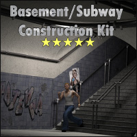 Basement and Subway Construction Set by 3-D-C 3D Figure Assets 3D Models 3-d-c