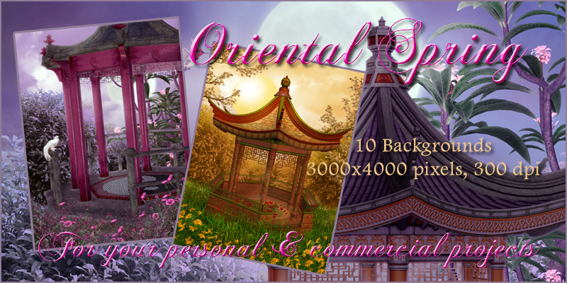 Oriental Spring Backgrounds