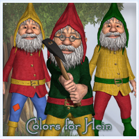 Colors for Hein 3D Figure Essentials 3D Models Marianne_Designs