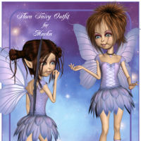 Flora Fairy Outfit for Mavka 3D Figure Essentials Mia_3D_Design