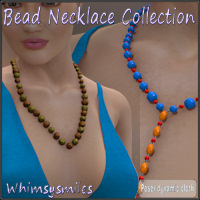 Bead Necklace Collection 3D Figure Assets WhimsySmiles