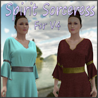 Spirit Sorceress for V4 3D Models 3D Figure Essentials WhimsySmiles