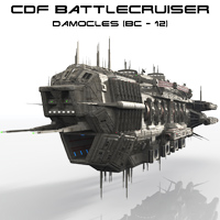 CDF Damocles - Battlecruiser Themed Transportation Props/Scenes/Architecture Madaboutgames