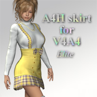 A4H skirt for V4A4 3D Figure Assets kobamax