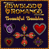 Jeweled Romance Collection - Beautiful Baubles Themed 2D And/Or Merchant Resources fractalartist01