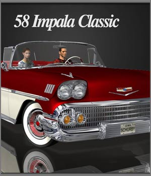 58 Impala Classic 3D Models RPublishing