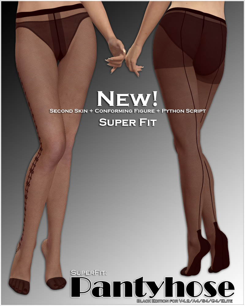 SuperFit: Pantyhose - Black