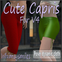 Cute Capris for V4 Clothing WhimsySmiles