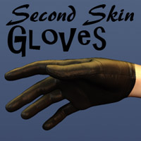 Second Skin Gloves 3D Figure Assets Oskarsson