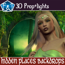 Hidden Places Backdrops 2D Graphics 3D Software : Poser : Daz Studio : iClone EmmaAndJordi
