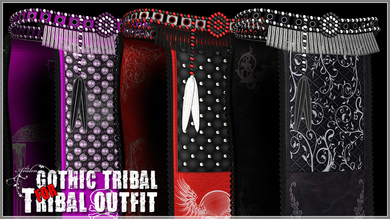 Gothic Tribal for Tribal Outfit by ile-avalon