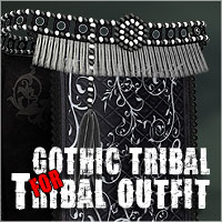 Gothic Tribal for Tribal Outfit by ile-avalon  ile-avalon