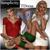 Simplicity - TDress 3D Figure Assets RPublishing