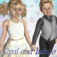 Opal and Indigo K4 Themed Characters JudibugDesigns