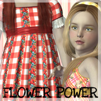Flower Power Textures  2D And/Or Merchant Resources Themed Anagord