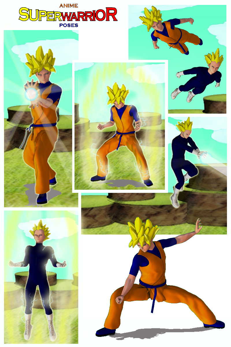 Anime Super Warrior Poses