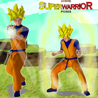 Anime Super Warrior Poses 3D Models 3D Figure Assets apcgraficos