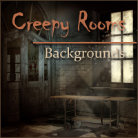 Creepy Rooms Backgrounds 2D And/Or Merchant Resources Themed -Melkor-