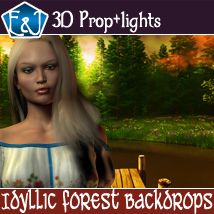 Idyllic Forest Backdrops Themed 2D And/Or Merchant Resources Props/Scenes/Architecture Software EmmaAndJordi
