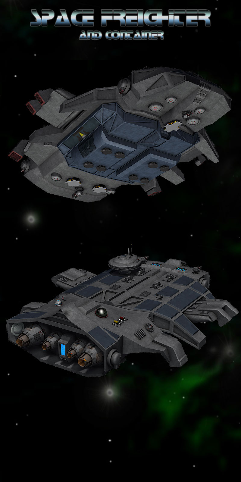 space freighter 3d models simon