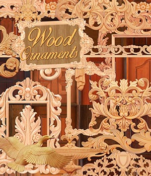 Wooden Ornaments 2D Graphics Atenais